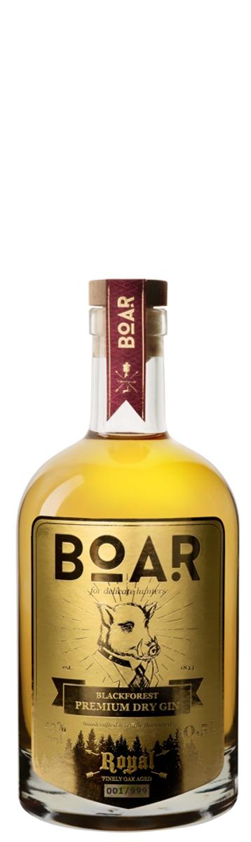 BOAR Blackforest ROYAL Premium Dry Gin, - im Barrique-Faß gereift - 43%vol.