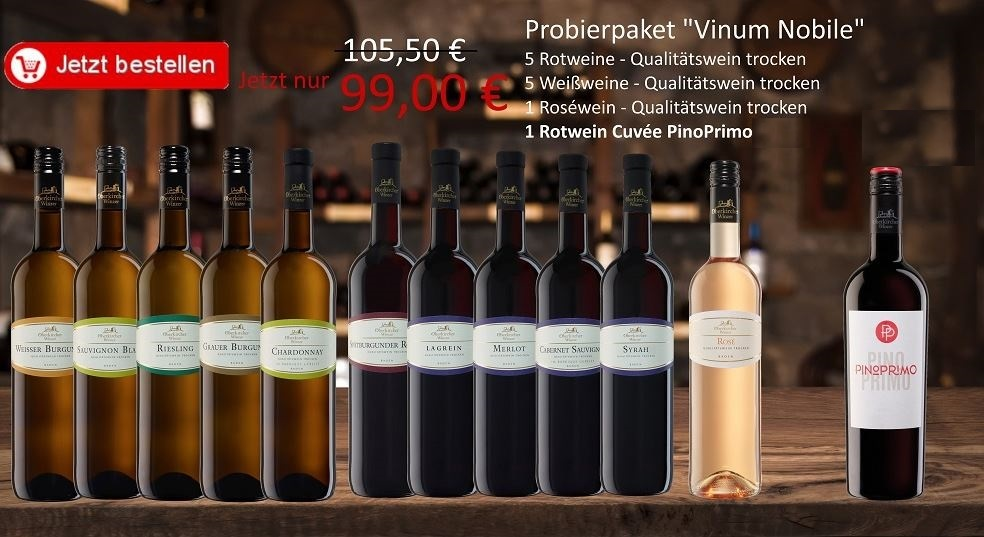 "Aktionspaket "" Vinum Nobile"" 12 Flaschen, Probierpaket"