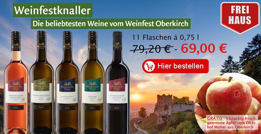 Aktionspaket Weinfestknaller 11 Fl.,