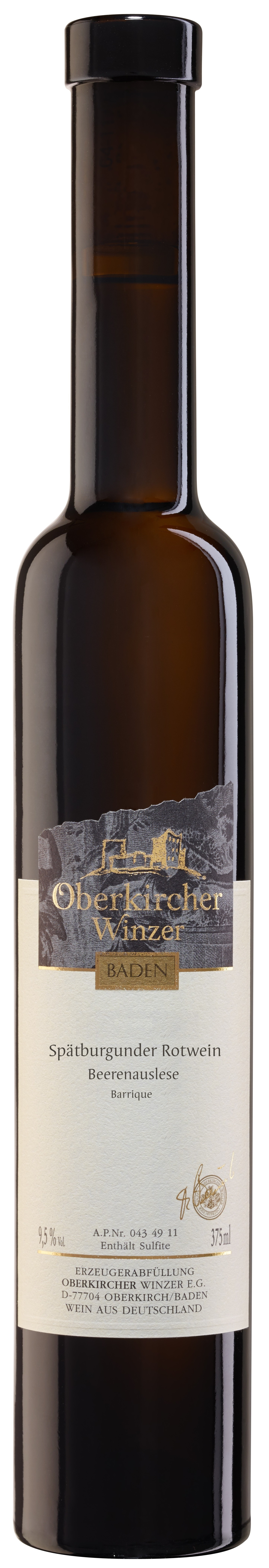Collection Oberkirch, Spätburgunder Rotwein Beerenauslese -Barrique-